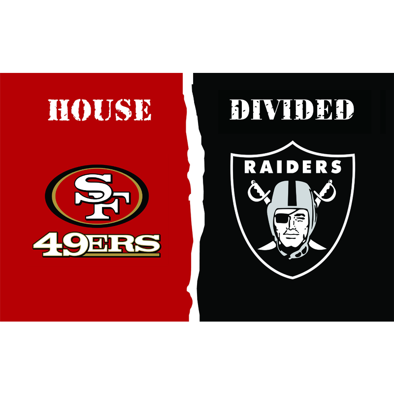 classic fit b33fb 64325 HiFlag San Francisco 49ers vs Oakland Raiders House Divided ...