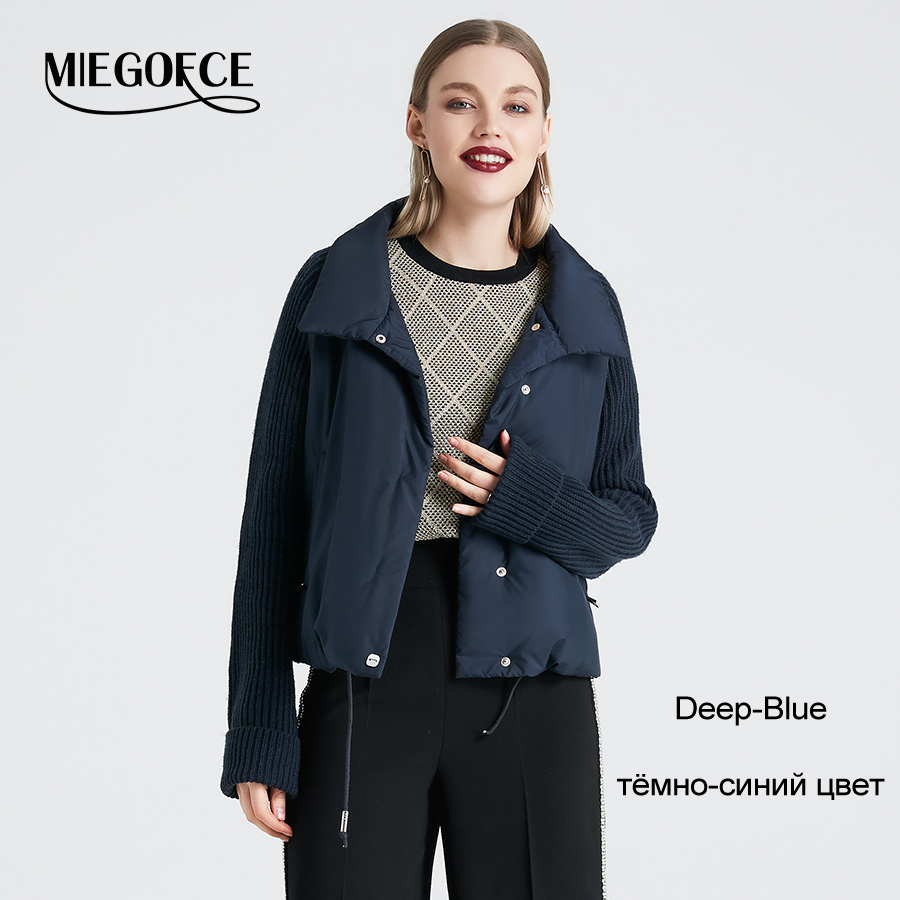 8ab9d11ab US $49.02 62% OFF|MIEGOFCE 2019 Short Women's Coat And Thin Cotton Padded  Jacket Spring Women's Jacket Stylish With Collar New Spring Collection-in  ...