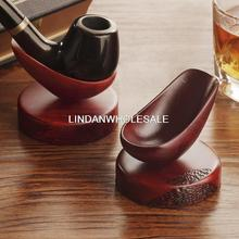 High quality red sandalwood smoking pipes holder, single seat,smoking accessories,tobacco pipe stand