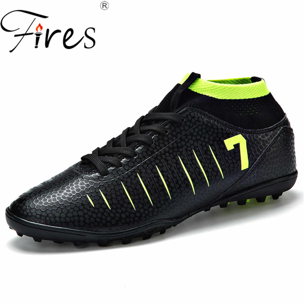 8ca15d3b8 Fires Men Soccer Shoes Turf Football Boots Brand High quality Futsal Soccer  Boots Sneakers Man Soccer