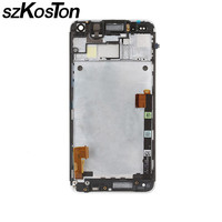 SZKOSTON 100 Test LCD Display For HTC One M7 LCD Touch Screen Digitizer Full Assembly Bezel
