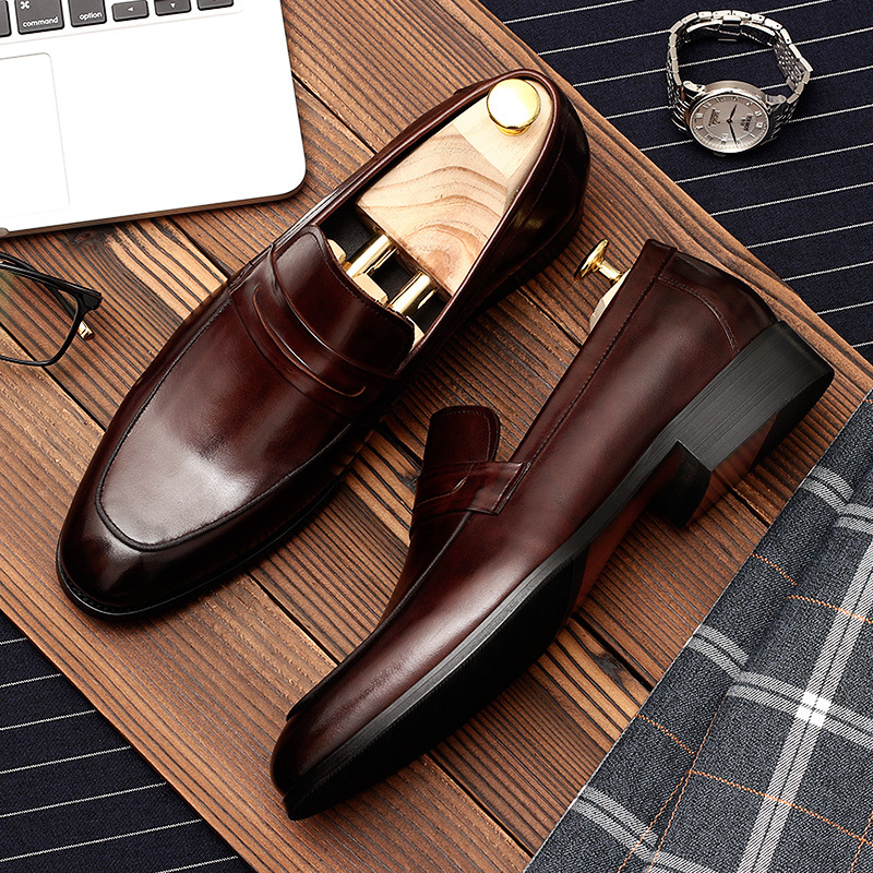 Mens formal shoes genuine leather oxford shoes for men black 2019 dress shoes wedding shoes slipon leather broguesMens formal shoes genuine leather oxford shoes for men black 2019 dress shoes wedding shoes slipon leather brogues