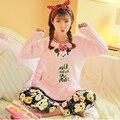 Engrosamiento De Franela Rosada Pijamas Pijama Mujeres Primark Mujeres del Invierno Pijama Pijama Mujer Pijamas Pijamas Feminino Entero