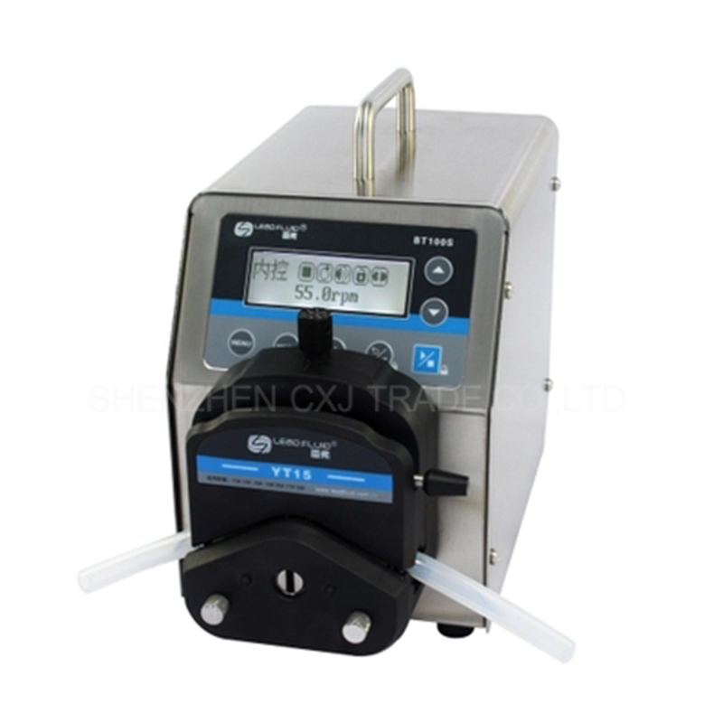1pc BT100S DG6 1 led digital display low flow Precise variable speed peristaltic pump for water