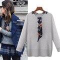 New Fashion Women Sweater Brand Pullover Autumn Knitted Coat Scarf Brief Europe Boyfriend Feminino Plus Size 5XL High Quality