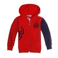 Spiderman Erkek Bebek Kız Kazak Ceket Hoodie Karakter Triko Kazak Dış Giyim Boys Enfant Hoodies Çocuklar Çocuk giyim