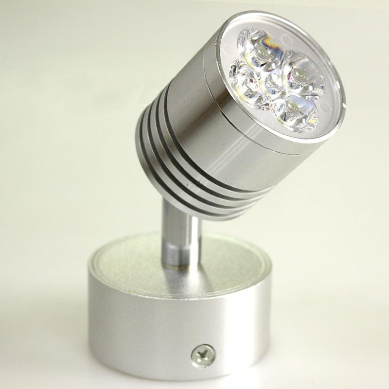 10pcs/lot LED Silver Adjustable Bedroom Bedside Lamp 5