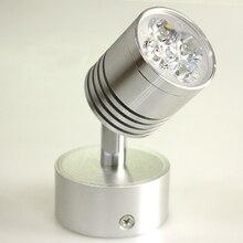 10pcs/lot LED Silver Adjustable Bedroom Lamp 5 LED