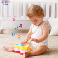 Beiens Hand Drums Toys Musical Instrument Kids Music Toys Roll Drum Musical Instruments Band Kit Infant