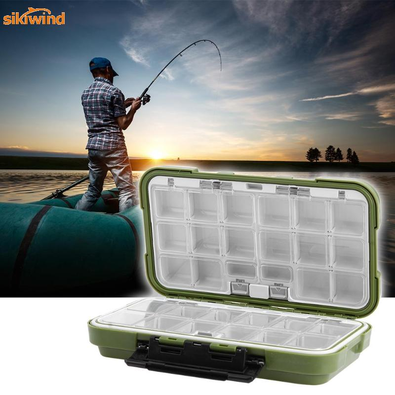 12 Compartments Two-Sided Fish Lure Storage PVC Large Fishing Tackle Box HD