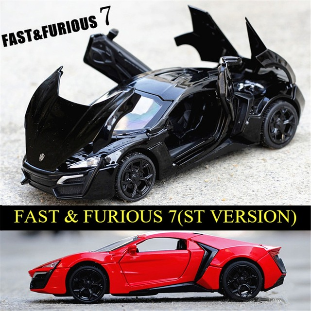 1/32 Scale Lykan Hypersport Sports Car Diecast Alloy Car Model Four-door Sound Light Models High Simulation Toys GiftsCollection