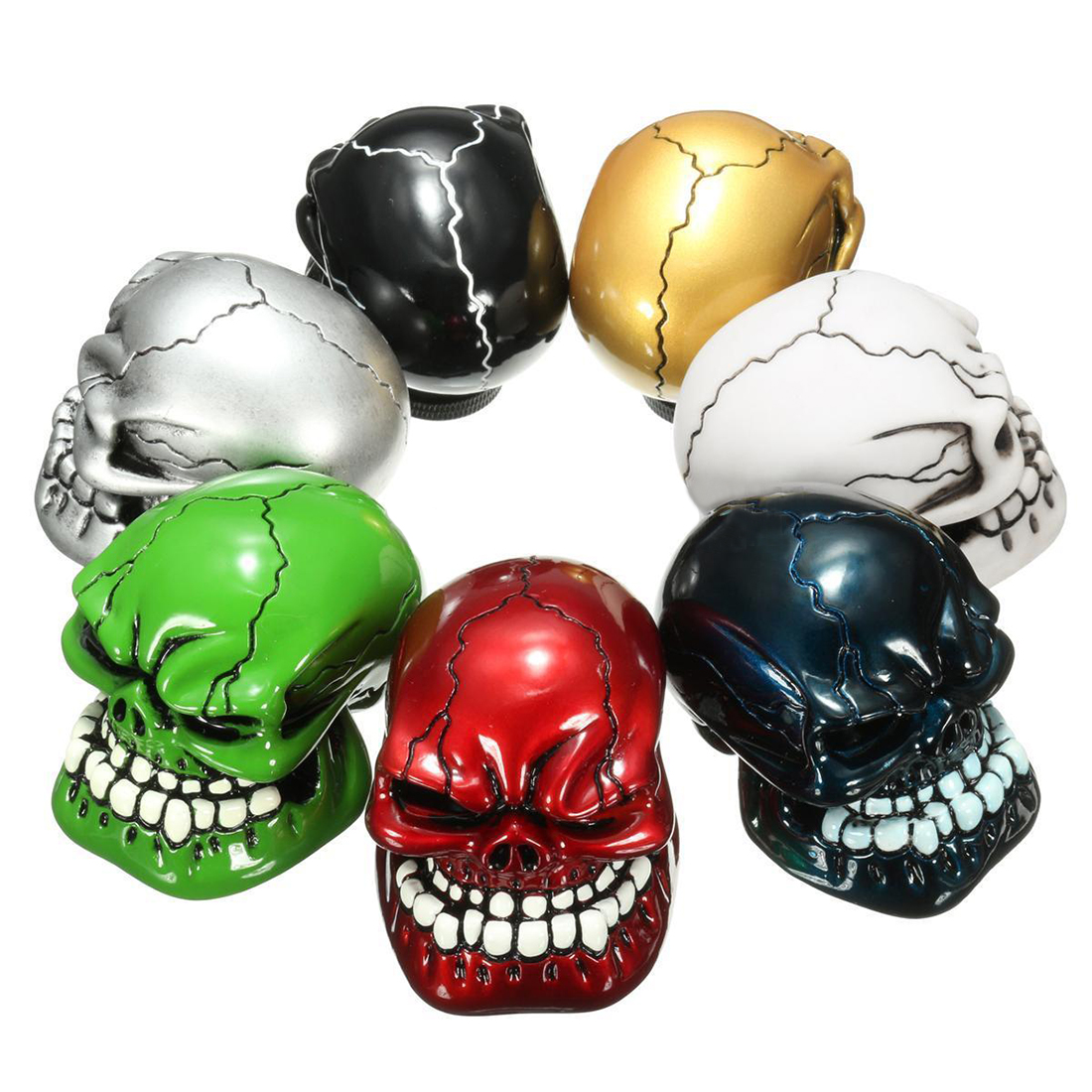 EDFY-Car Carved Manual Skull Gear Stick Shift Knob Lever Shifter M8/M10/M12