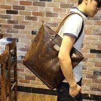 Leather Good Quality Men S Computer Bag 14 15 Inch Men S Handbag Big Shopping Bag