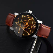 CTPOR Watch Man Watches Special Desgin Gear Sports hot Fashion Men's Leather Needle Length quartz Wristwatch Male Clock Relogio