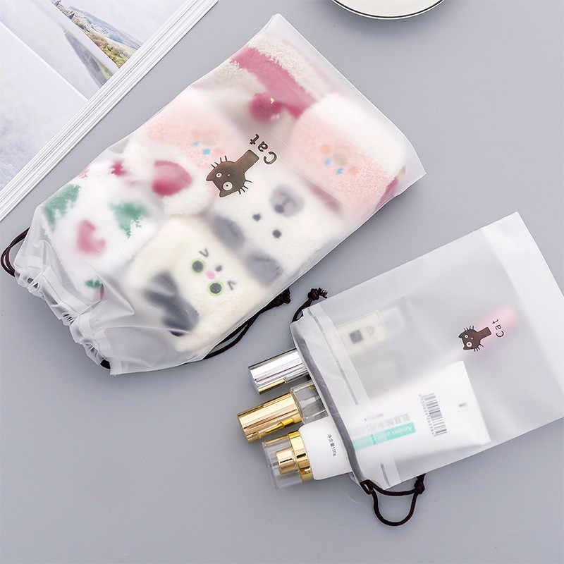 Прозрачная косметичка Cartoonl Cat дорожный кейс для косметики на молнии косметичка Органайзер сумка для хранения туалетный женский набор для чистки