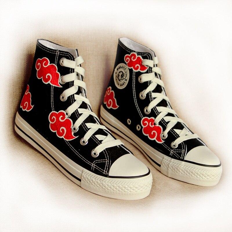 High-Q Unisex Anime NARUTO Akatsuki Orochimaru Casual Canvas Shoe Plimsolls Rope Soled Shoes