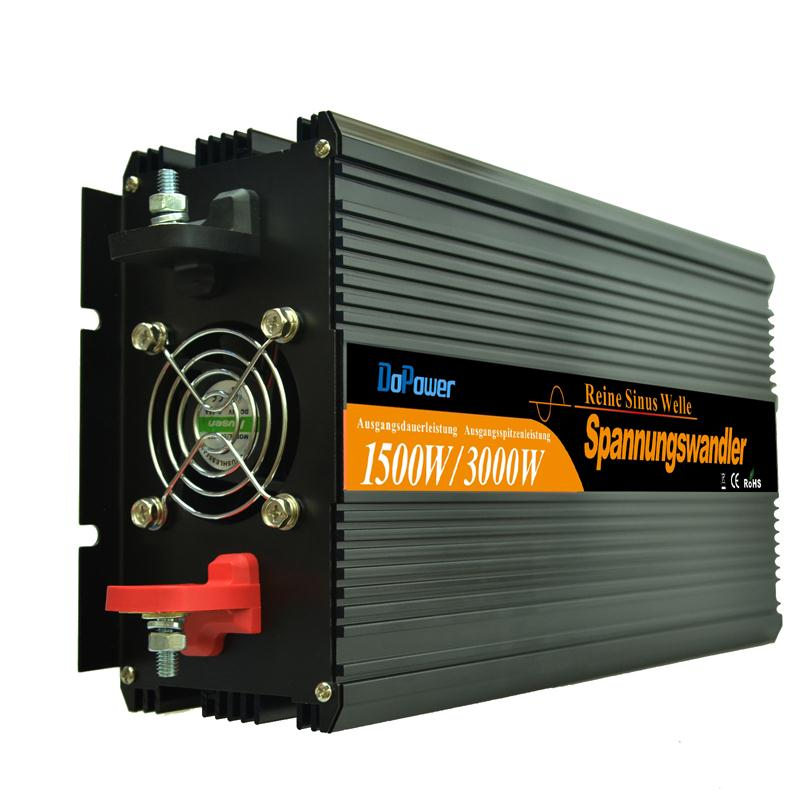 dc 24V to ac 220V 1500w / 3000w Peak  Remote control pure sine wave power inverter high quality converter DHL  FEDEX SHIPPING