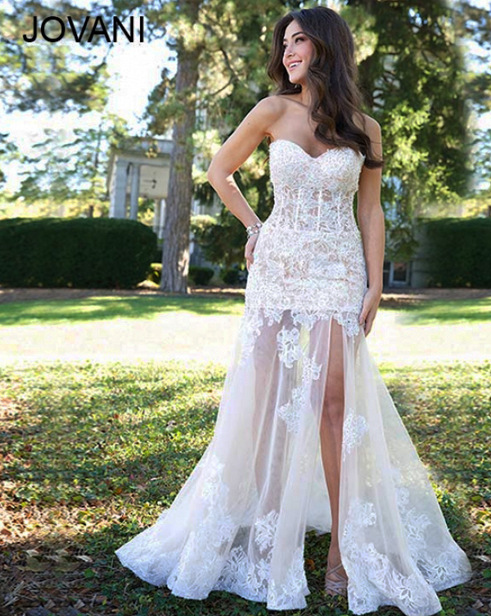 New Style Vestido De Festa Robe Soiree 2018 Fashion Y Sweetheart Lace Liques Open Leg Custom Prom Bridesmaid Dresses In From