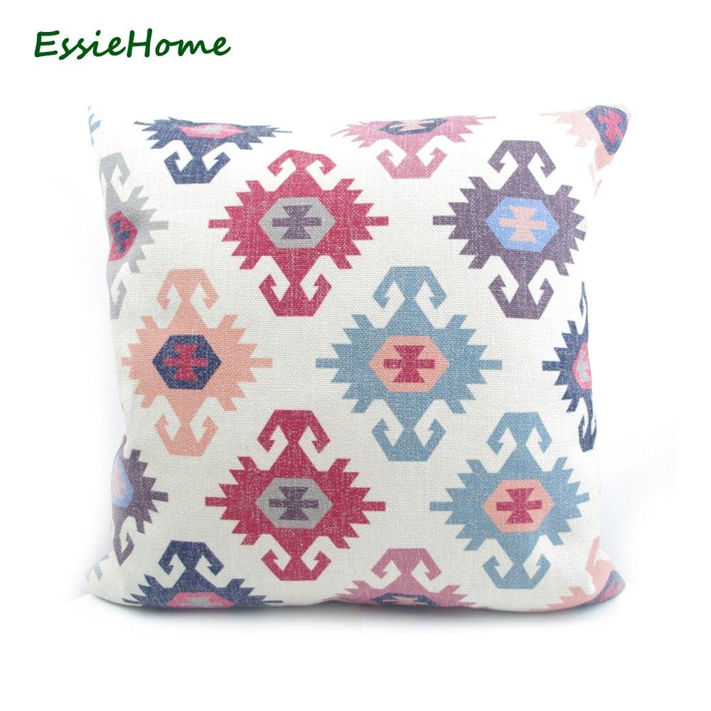 ESSIE 홈 소파에 대한 하이 엔드 디지털 인쇄 베이지 색 터키어 민족 킬림 패턴 베개 커버 쿠션 커버 빈티지보세요 홈 Decora