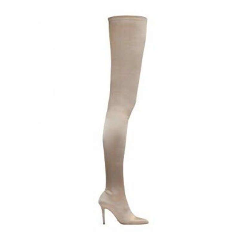 Overknee Verhogen Hoge Elastische Sokken Lange Hoge Laarzen Over De Knie Laarzen