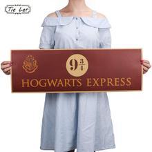 TIE LER 9 3/4 (nine and three quarters) Platform Harry Potter Movie Vintage Paper Decoration Poster Wall Stickers 72x24cm