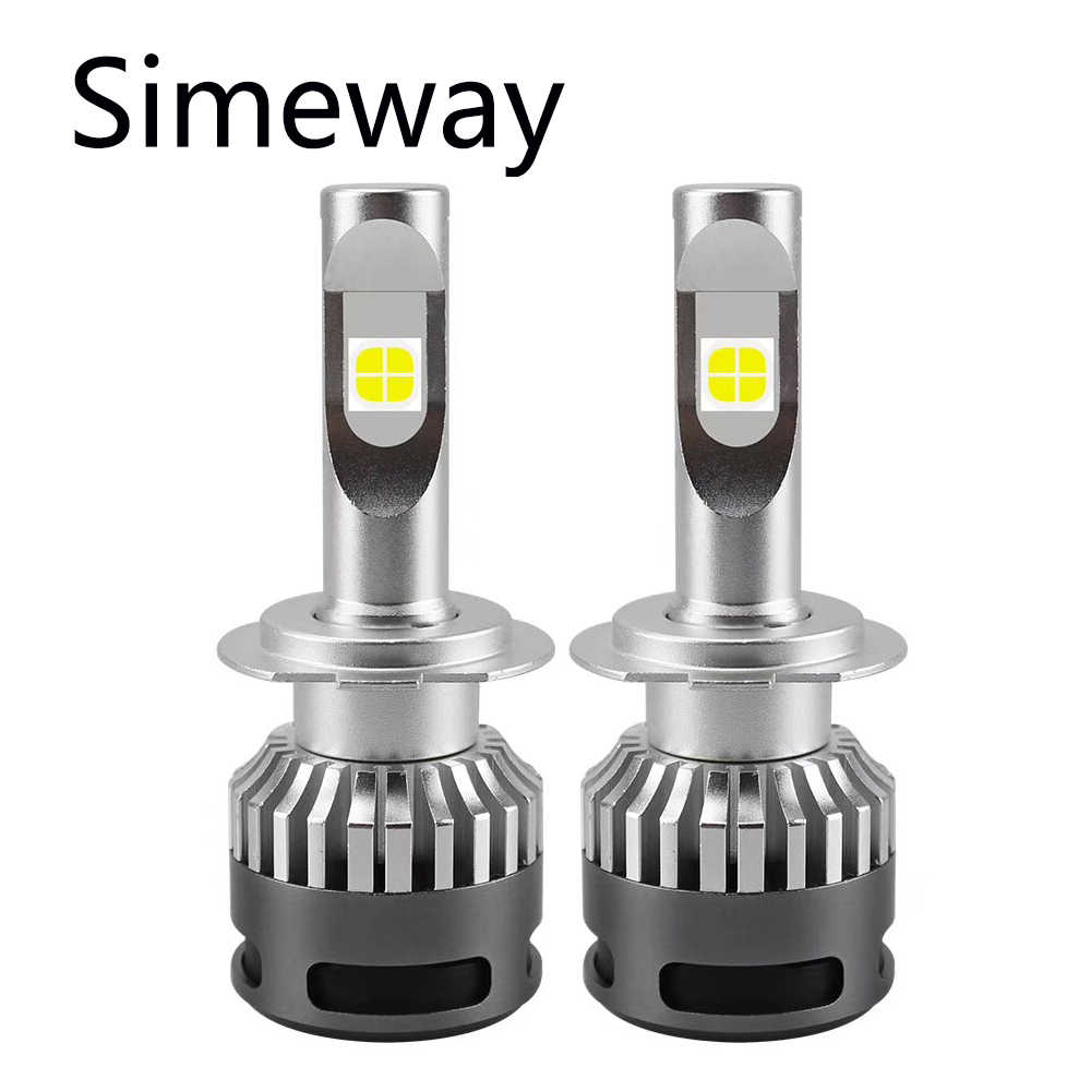 simeway 2Pcs Super Brgiht car LED light H4 H7 H11 H13 LED bulb H9 HB3 HB4 with XHP70 chip 1000W 12000 LM 6000K auto fog lamp 12V