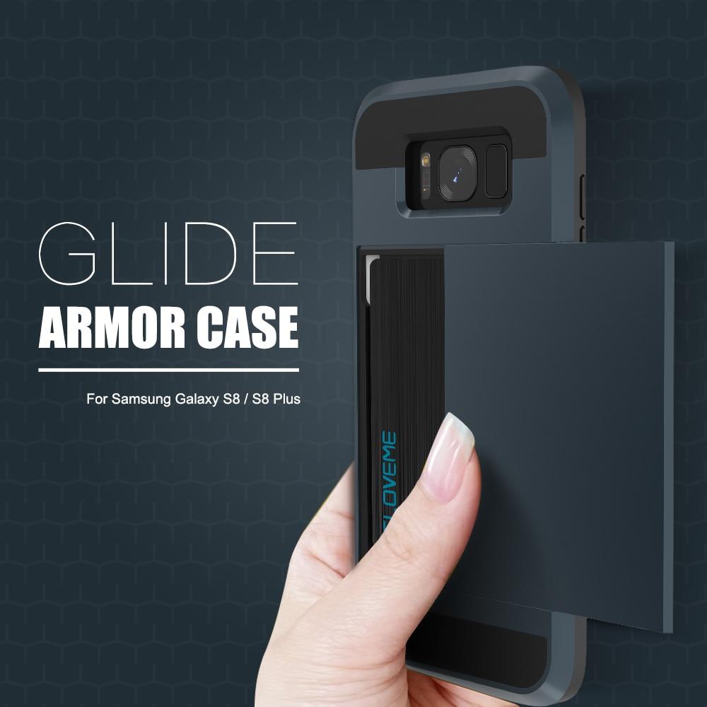 Funda de armadura de titular de tarjeta Kisscase para Samsung Galaxy - Accesorios y repuestos para celulares - foto 6