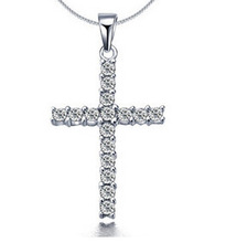 Fashion Jewelry Cross Necklace&Pendant For Women Zircon Rhinestone Choker Necklace Collar Clavicle Chain