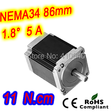 Nema 34 Stepper motor 34HS61-5004S L155 mm  with 1.8 deg stepper angle current  5 A  torque 11N.cm and 4 wires