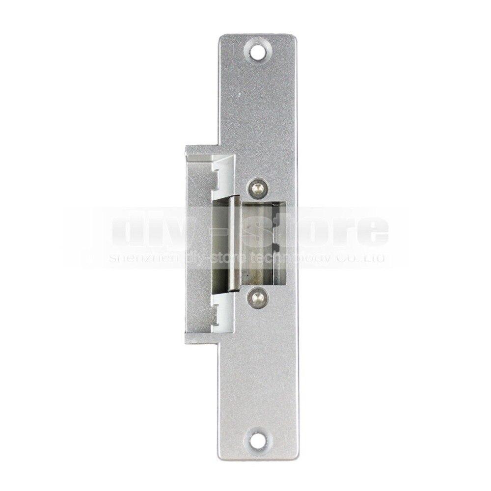 DIYSECUR 125KHz RFID Reader Password Keypad Access Control System Full Kit Set + Electric Strike Door Lock + Power Supply