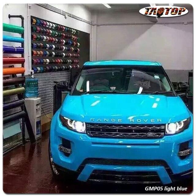 Nice 1.52*20m Top Quality Super Gloss Light Blue High Glossy Metalic Pearl Car  Body Vinyl Amazing Design