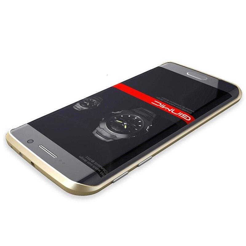 bilder für S6edge Ginmic Aluminiummetallstoß Für Samsung Galaxy S6 Rand G9250 Fall Rahmen Mit Metallknopf