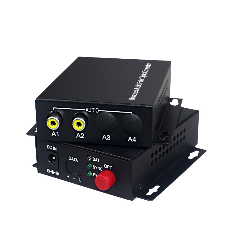 Image 2 - Audio Broadcast Fiber Transceiver 2 channel audio optical  converter mode single fiber 20KMfiber transceiversingle mode  fiberfiber single mode