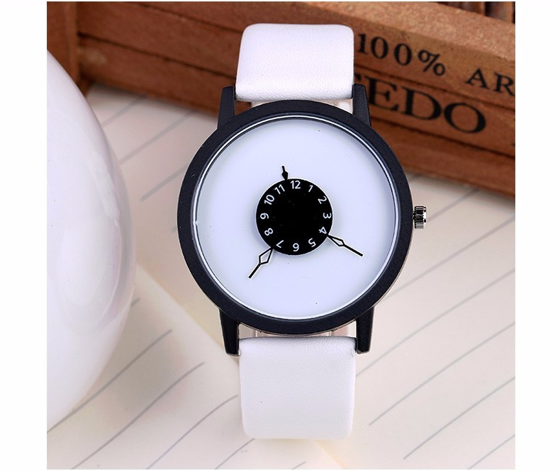 Fashion Style Watch for Men and Women White Dial