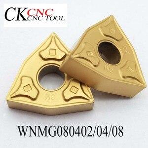 Image 1 - 10 pces wnmg080404 wnmg080408 processamento de aço carboneto insere ferramentas lâmina alto desempenho custo