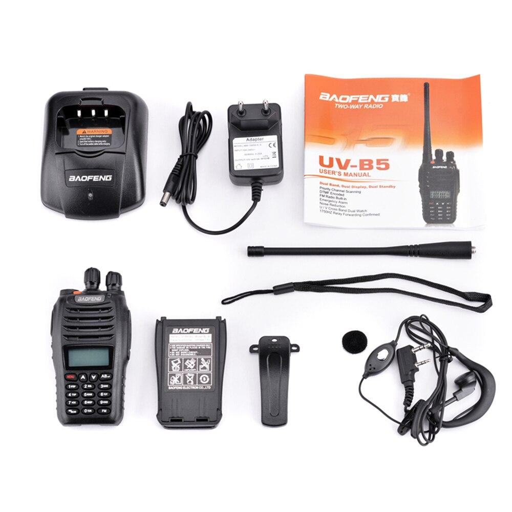 2 pièces Baofeng UV-B5 talkie-walkie 199 canaux Radio bidirectionnelle UHF VHF longue portée portable FM HF émetteur-récepteur Radio jambon Comunicador - 6