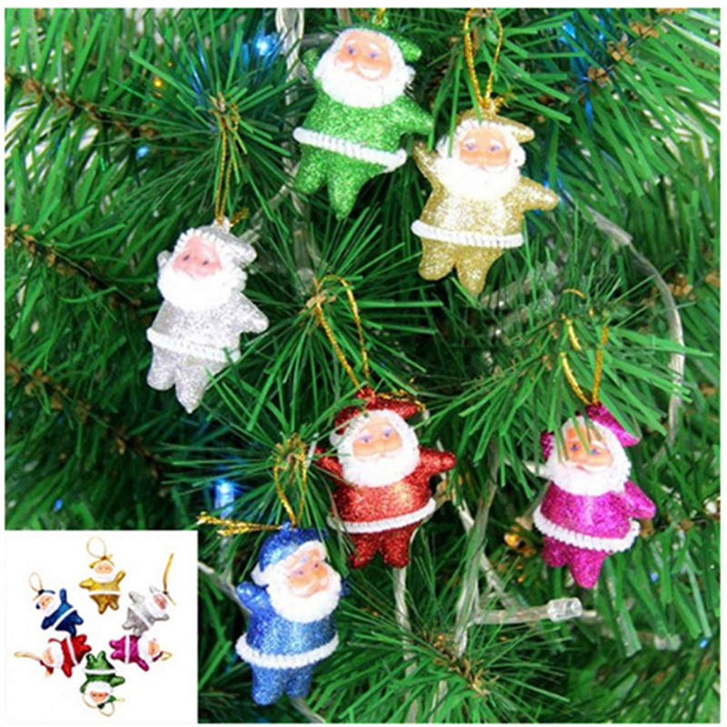 6pcs Set Random Color Small Christmas Santa Claus Ornaments Christmas Tree Decoration Merry Christmas Supplies 760872 Pendant Drop Ornaments Aliexpress
