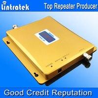 Lintratek W-CDMA 2100 ميجا هرتز lcd العرض 3 جرام + gsm 900 ميجا هرتز ثنائي الموجات الهاتف المحمول إشارة معززة gsm 3 جرام umts 2100 إشارة مكرر #50