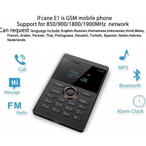 Mosthink IFcane E1 AIEK X8 GSM 2G Cellphone Mini Mobile Phone ultra thin credit card Button Single SIM FM Radio Mp3 mini phones Karachi