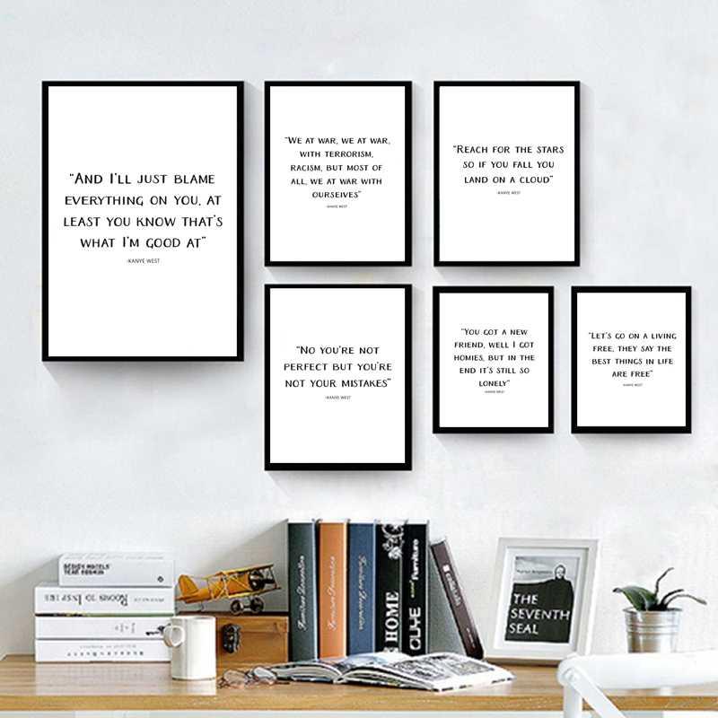 Kanye West Rap lyrics Quote Canvas Prints Typography Poster