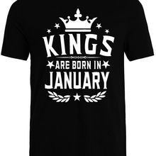 a75c4fd7 Kings Are Born In January Men'S T-Shirt Gift For Him. Best Birthday Shirt