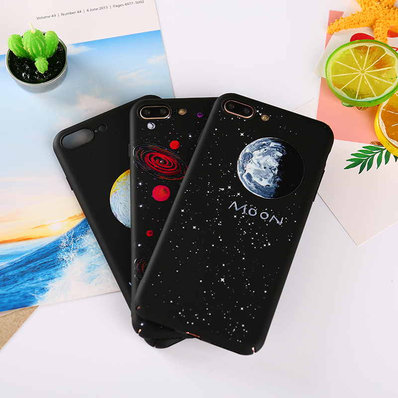 KMUYSL For iPhone X Case Luxury Oil Painting Night Moon VENUS Star Hard PC Matte Cover For iPhone 8 7 6 6s Plus Case 7 6 8 Plus