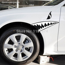 A PAIR 28cm*14cm big shark teeth car stickers super cool styling exterior accessories decoration+