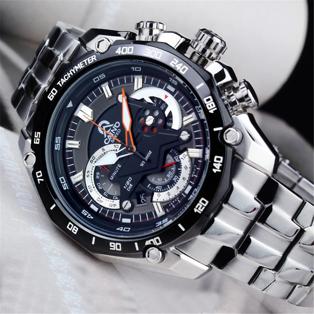 CAINO TOP Luxury Brand Watches Men Sport Wristwatch Casual Men s Multi Function Calendar Luminous Quartz