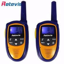 2pcs Mini Body Children Walkie Talkie Retevis RT31 0.5W PMR VOX LCD Display Squelch Two Way Radio Portable Kids Radio Toy Gift