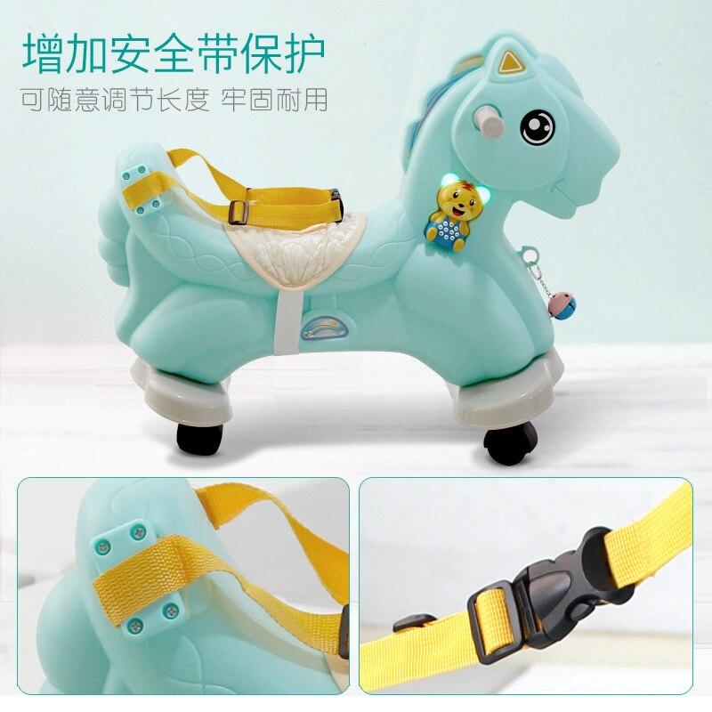 Лошадка качалка Baby Пластик большой Размеры кресло качалка двойного назначения ездить на игрушки животных От 1 до 6 лет Верховая езда игрушка... - 5