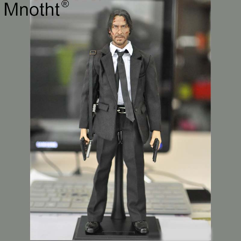 Mnotht 1:6 KMF037 John Wick Retired Killer Keanu Reeves Action Figure Set Suit for 12in Soldier Toy Model Collections Gift mb 1 6 sovereign military knights of malta ancient medieval soldier action figure model collections