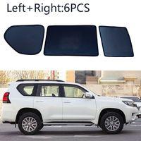 6 adet yan pencere manyetik güneş gölge UV ışını engelleme örgü Toyota Prado 2010-2018 için Fit