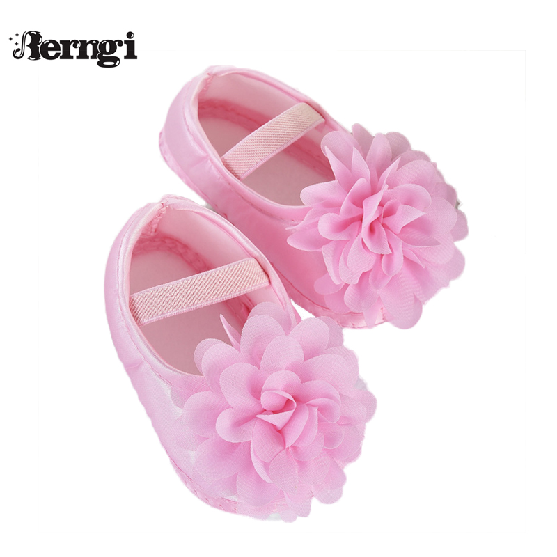 First Walkers Newborn Toddler Baby-Girl 0-12 Kid Rose Bowknot for Berngi Elastic Months