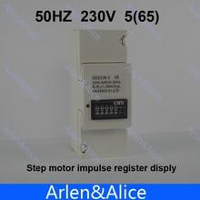 5 (65) A 230 V 50 HZ monofásico carril Din KWH Watt hora carril din energy medidor de motor paso registro impulso dispaly